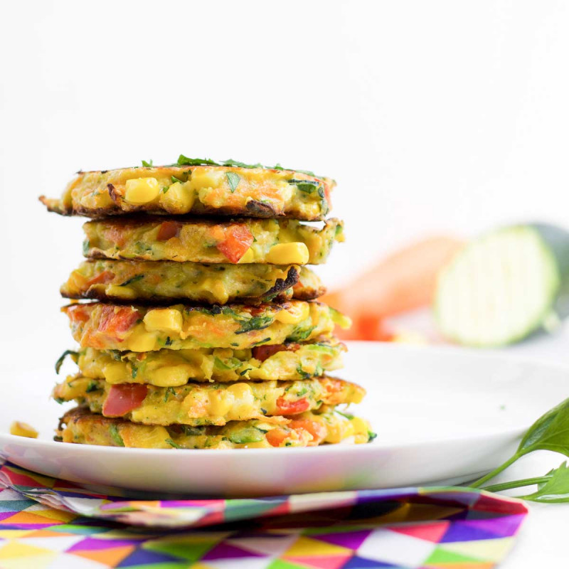 Baby marrow and sweetcorn fritters